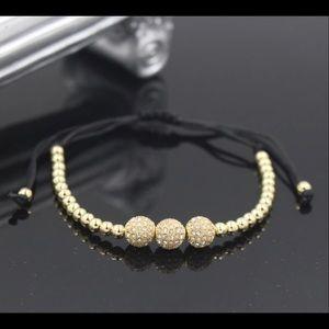 Friendship CZ Crystal Copper Ball Beads Bracelet